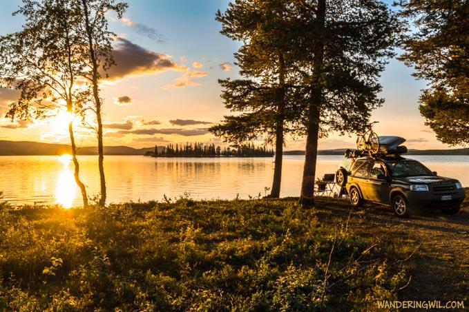 tramonto-lago-auto-WanderingWil